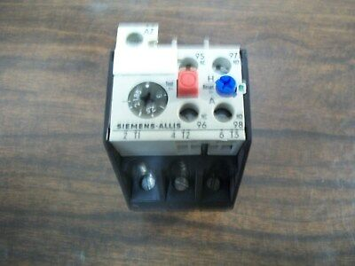 Siemens - Allis Olr0300Csi Overload Relay Used 1.85A - 3 A **Make Offer**
