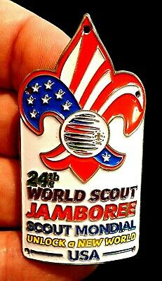 24th 2019 WORLD SCOUT JAMBOREE OFFICIAL WSJ USA HIKING MEDALLION like PATCH