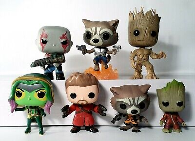 Funko Pop Guardians Of The Galaxy Lot of 7 Vinyl Figures Exclusive Vaulted