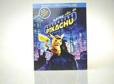 Pokemon Detective Pikachu* {New Blu-ray+DVD, 2019} No Digital