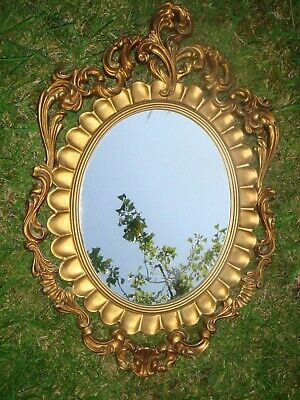 Vintage Everest Made In Italy Rococo Style Ornate Mirror. Plastic Frame