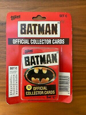 1989 Topps Batman Cards Set C unopened Official Collector Cards