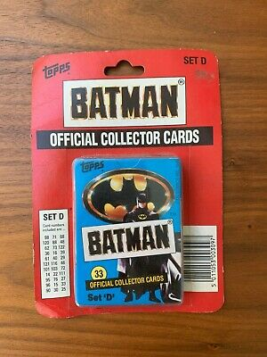 1989 Topps Batman Cards Set D unopened Official Collector Cards