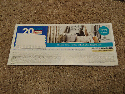 Bed Bath And Beyond Coupons 20% off Single Item in store and online  EXP 10/1/19