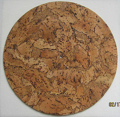 Cork Turntable Mat - Audiophile Mat for Vinyl Record LP's