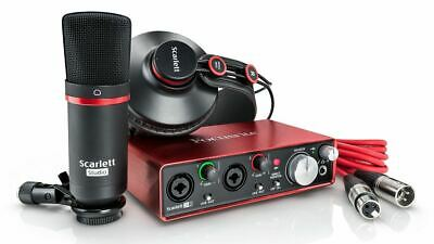 Focusrite Scarlett 2i2 Studio (2nd Gen) w/ ProTools | First & Ableton