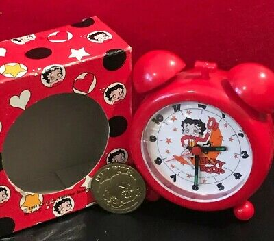 Vintage 1991 Betty Boop Sitting On The Moon 🌙 Alarm Clock ⏰ Non-Working + Coin!