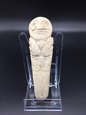 Pre Columbian Taino Zemi Shamans Manatee Bone Vomit Stick For Cohoba Ritual