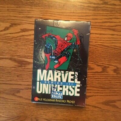 1992 Marvel Universe Series III 3 Trading Cards Sealed Unopened Box Impel Skybox