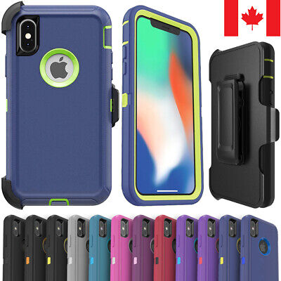 For iPhone X XS Max XR 11 Pro Max Defender Case Shockproof Cover + Belt Clip