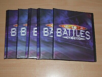 Lot of 5 Doctor Who Battles in Time 80 card folders