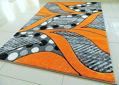 New Orange Leaves Thick Hand Carved Soft Heavy Large Area Floor Rug Runner Mats