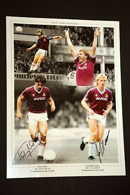Tony Cottee And Frank Mcavennie Hand Signed Westham United Football Photograph