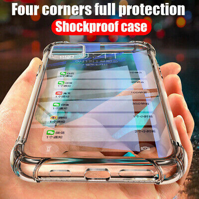 For iPhone 11 Pro Max XS XR 8 7 6s Luxury Transparent Shockproof Soft Case Cover