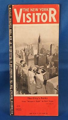 Vintage The New York Visitor Travel Brochure June 1953 w/ Map
