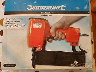Silverline Brand New Boxed Concrete/Steel/Wood Multi Nailer Nailgun