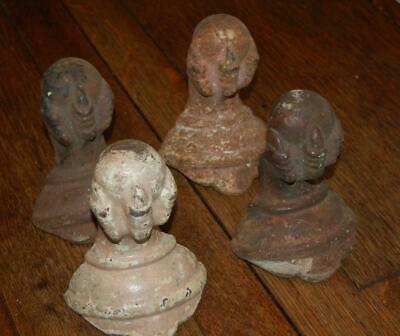 4 Large Antique Cast Iron Fancy Claw Foot Tub Bathtub Stove Ball Feet Talon Rare