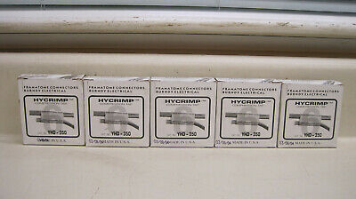New Lot of 5 Burndy Hycrimp YHD-350 Compression Connectors Free Shipping