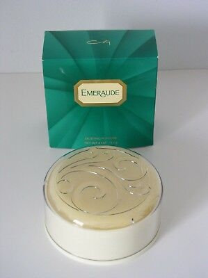 Vintage New Old Stock In Green Box Coty Emeraude Dusting Powder 4 oz. Unused