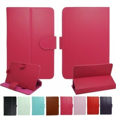 "UK Universal Leather Stand Case For 7"",8"",9"",10"",10.5inch Laptop / iPad / Tablet"