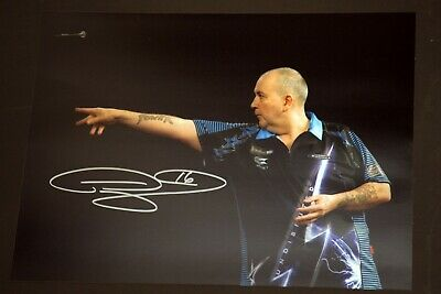 Phil Taylor Signed Darts 12x16 Photograph : C