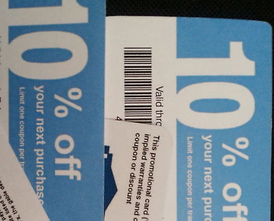(20) Lowe's Blue Cards Coupons 10% for Home Depot only Expires 2020 JUNE