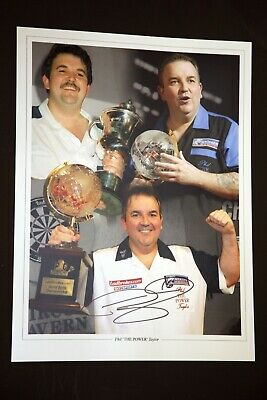 Phil Taylor Signed Darts 12x16 Photograph : E