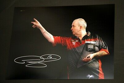 Phil Taylor Signed Darts 12x16 Photograph : I