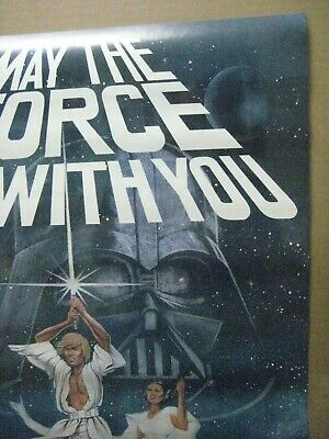 Vintage Poster Star Wars May the force be with you 1977 Inv#G4753