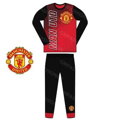 Boys Official Manchester United Football Club Pyjamas Pjs Nightdress Utd MUFC