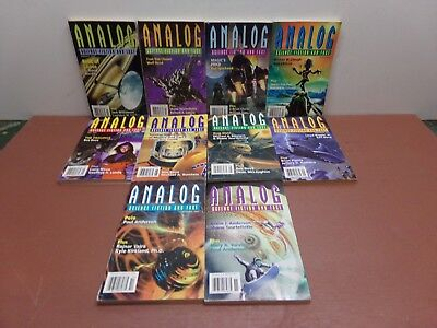 ANALOG SCIENCE FICTION & FACT - 2001 (January through November) - 10 Issues!