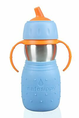 Kid Basix by New Wave Safe Sippy – Toddler Stainless Steel Sippy Cup (No Straw)