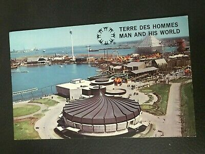 Vintage Postcard Montreal Canada Man and his World Montreal Aquarium