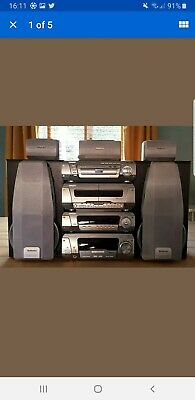 TECHNICS DV290 Stereo HiFi System, Tape Processor CD 5 DVD changer Amp.