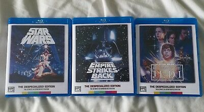 Star Wars - Original Trilogy - Despecialized Editions - Blu Ray