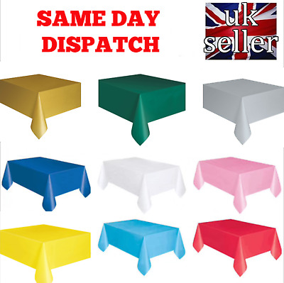 Plastic Table Cloth Disposable Wipe Clean Party Tablecloth Covers Rectangle UK
