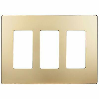 ENERLITES Decorator Screwless Wall Plate 3 Gang Outlet / Switch Cover
