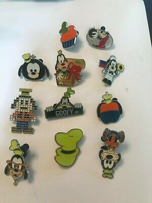 11 Goofy Disney Themed Pins Lot 75