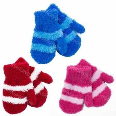 Toddlers Thermal Children Baby Feather Touch Gloves Mittens Cosy Soft Boys Girls
