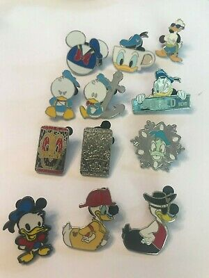 12 Donald Duck Disney Themed Pins Lot 78