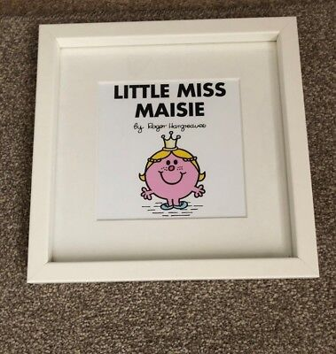 Little Miss Maisie Mr Men Little Miss Princess Certificated Wall Picture