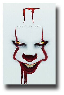 """It Chapter 2 Movie Poster 11""""x17"""" Pennywise TWO II Bloody SameDay Ship from USA"""
