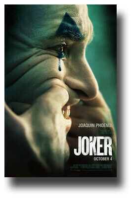 "Joker 2019 Movie Poster - 11""x17"" Joaquin Phoenix Teeth SameDay Ship from USA"