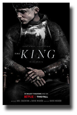 """Timothee Chalamet Movie Poster King 11""""x17"""" sitting SameDay Ship from USA"""