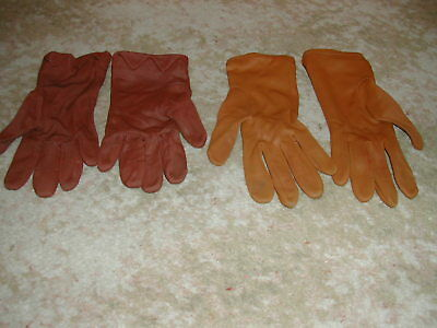 2 pairs ladies nylon (?) gloves, vintage, wedding or summer outfits size 7 1/4.