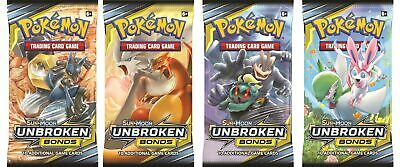 UNBROKEN BONDS BOOSTER PACKS - SM10 - Pokemon TCG - FAST DOMESTIC SHIPPING