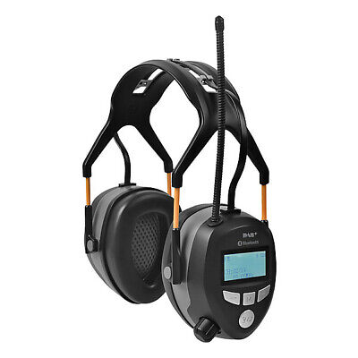 Bluetooth FM/DAB+ Radio Ear Defenders with Rechargeable Battery