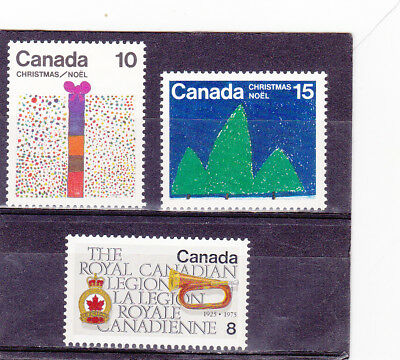 Canada 3 Differents Sets # 678 , 679 , 680  (1975)   Mnh (**)