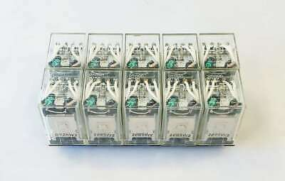 Lot of 10 x Omron MY4N (100/110 VDC) 5A Cube Relays.  Great shape.  Working.