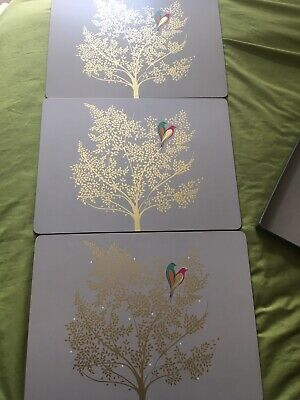 Sarah Miller Chelsea Collection Three Large Placemats Semi Boxed